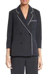 Tibi Women's Draped Satin Twill Blazer