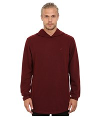 Publish Tino Thermal Long Sleeve Knit With Hood Maroon Men's Clothing Red