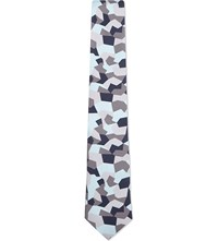 Tiger Of Sweden Silk Geo Camo Tie Blue