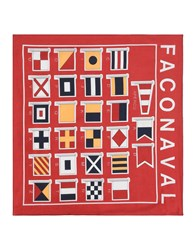 Faconnable Square Scarves Red