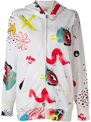 Marc Jacobs 'Collage Print' Oversized Hoodie White