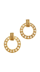 Wgaca Vintage Chanel Cc Hoop Earrings