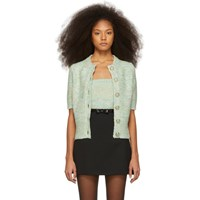 Marc Jacobs Green Short Sleeve Cardigan