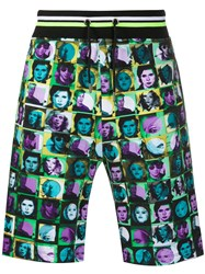 Frankie Morello Graphic Print Track Shorts 60