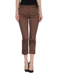 Fabrizio Lenzi Casual Pants Dark Brown