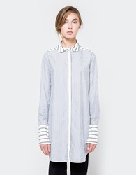 Frankie Striped Boyfriend Shirt Off White Blue