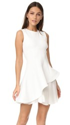 Cushnie Et Ochs Structured Fit And Flare Dress White
