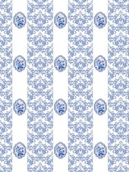 Royal Delft Imperial Wallpaper By Nicolette Mayer