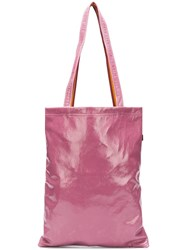 Sies Marjan Contrast Shoulder Strap Tote Pink And Purple