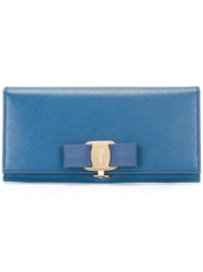 Salvatore Ferragamo Vara Continental Wallet Blue
