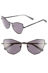 Kendall Kylie Liara 57Mm Cat Eye Sunglasses Black Metal Solid Smoke Black Metal Solid Smoke