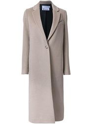 Alexander Wang T By Single Breasted Coat Nude Neutrals