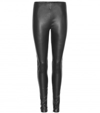 Balenciaga Leather Leggings Black