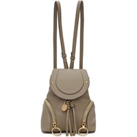 See By Chloe Grey Small Olga Backpack