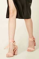 Forever 21 Faux Suede Ankle Wrap Heels