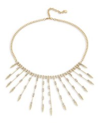 Design Lab Lord And Taylor Crystal Collar Necklace Gold