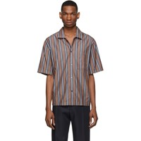 Boss Blue And Brown Striped Relaxed Fit Shirt