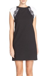 Women's Kut From The Kloth Raglan Sleeve Crepe Shift Dress