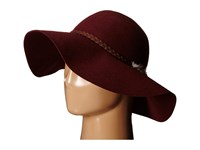 Billabong Traveling Tides Wide Brim Felt Hat Wine Traditional Hats Burgundy