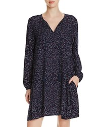 Beachlunchlounge Multi Dot Peasant Dress 100 Bloomingdale's Exclusive Navy