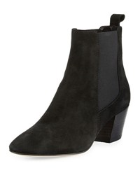Aquatalia By Marvin K Freya Suede Chelsea Boot Black