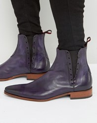 Jeffery West Yardbird Leather Chelsea Boots Purple
