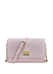 Gigi New York Catherine Leather Crossbody Bag Petal Pink