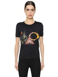Givenchy Surreal Printed Cotton Jersey T Shirt
