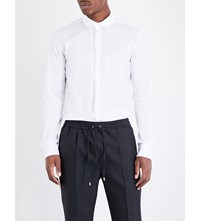 Wooyoungmi Slim Fit Stretch Cotton Shirt White