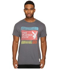 The Original Retro Brand Vintage Cotton Short Sleeve Playboy Tee Charcoal Men's T Shirt Gray
