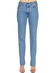 Calvin Klein 205W39nyc Mid Rise Cotton Denim Jeans Blue