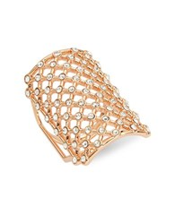 Michela Lattice Rose Goldtone Ring