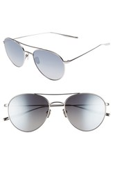 Salt Women's 54Mm Polarized Round Sunglasses Traditional Silver