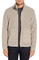 James Perse Men's Heavy Polar Fleece Full Zip Jacket
