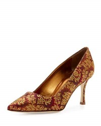 Manolo Blahnik Bb Brocade 70Mm Pump Multi Colored