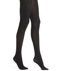 Calvin Klein Solid Textured Opaque 2 Pack Tights Black Black