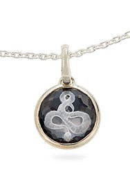 Ippolita Ippolitini Onyx Clear Quartz And Sterling Silver Doublet Intaglio Snake Charm Pendant Black