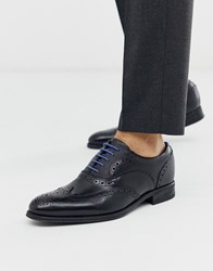 Ted Baker Mitack Brogues In Black Leather