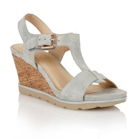 Lotus Mirror Wedge Sandals Grey