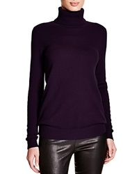 C By Bloomingdale's Turtleneck Cashmere Sweater Italian Plum