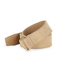 John Varvatos Italian Leather Belt Beige