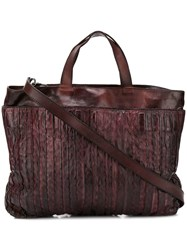 Numero 10 Textured Shoulder Bag Purple