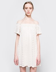 Farrow Camilla Off Shoulder Dress Cream