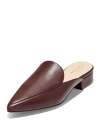 Cole Haan Piper Pointed Slide Mules Cordovan Wine