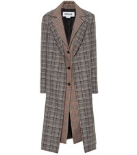 Monse Checked Wool Blend Coat Multicoloured