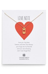Women's Dogeared Heart Dog Tag Pendant Necklace Gold Nordstrom Exclusive