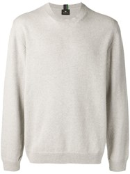 Paul Smith Ps By Long Sleeve Fitted Sweater Grey