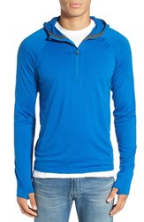 Ibex Men's 'Indie' Merino Wool Quarter Zip Hoodie