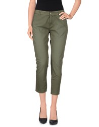 Daniele Alessandrini Trousers 3 4 Length Trousers Women Military Green