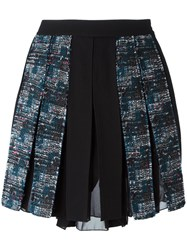 Diane Von Furstenberg Pleated Short Skirt Black